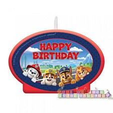 Paw Patrol Birthday Candle