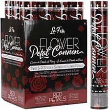 """12""""Flower Petal Cannon Red"""