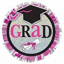 Graduation Pink Button
