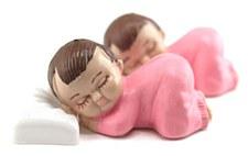 2 SLEEPING BABIES 2.5'' PINK