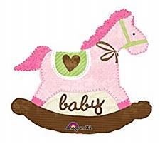 """29""""Baby Pink Rocking Horse"""