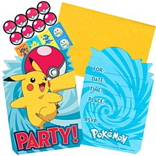 Pokemon Invitation Cards