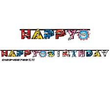 POWER RANGER HAPPY BIRTHDAY BANNER KIT