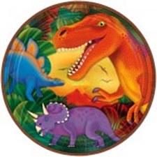 Prehistoric Party Metallic Lunch Plates
