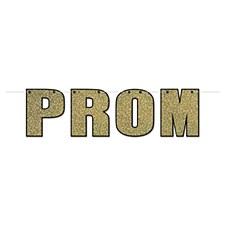 Gold Prom Glittered Streamer