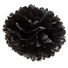 16in Black Puff Ball