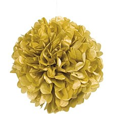 16in Gold Puff Ball