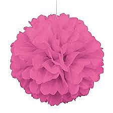 16in Hot Pink Puff Ball
