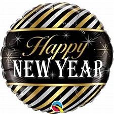 "18"" New Year diagonal Stripes"