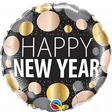 "18"" New Year Metallic Dots"