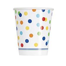 Rainbow Polka Dot Cups