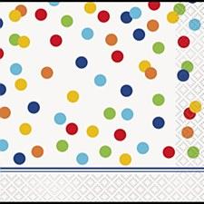 Rainbow Polka Dot Bev. Napkin