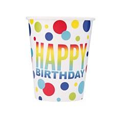 Rainbow Spots Birthday Cups
