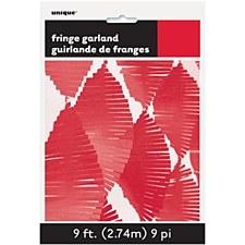 Red Fringe Garland 9ft