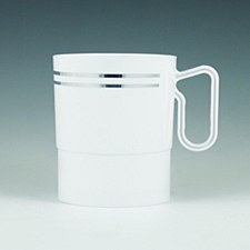 SILVER 8OZ COFFEE CUPS 12 CT