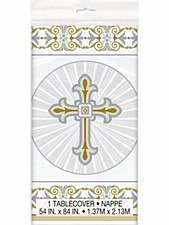 Radiant Cross Gold & Silver Tablecover