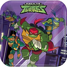 """7""""Rise Of The TMNT Plates"""