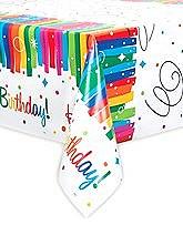 Rainbow Ribbons Birthday Tablecover