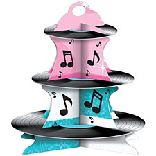 Rock & Roll Record Cupcake Stand