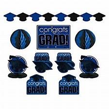 Graduation Decoration Blue Kit 10pc