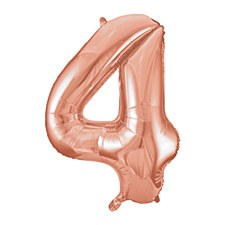 "34"" #4 Rose Gold Mylar Balloon"