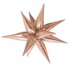 "Rose Gold 27.5"" Star Burst Balloon"