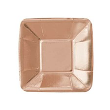 "Rose Gold 5"" Square A ppetizer Plate"
