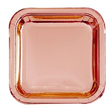 Rose Gold Square Dinner Plate