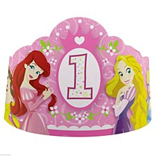 Princess 1st Birthday Tiaras - Paper