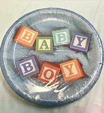 12ct Baby Boy Plates 9in