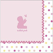 Tickled pink 16ct lunch napk