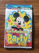 8CT MICKEY MOUSE INVITATION