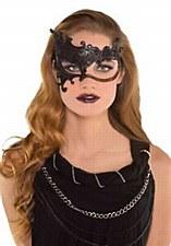 Black Color Scroll Fantasy Mask