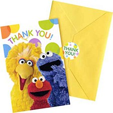 Sesame Street Party Postcard Thank You Cards