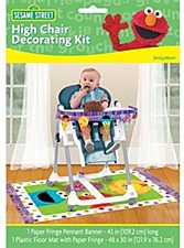 Sesame Street 1st Birthday High Chair Decorating Kit
