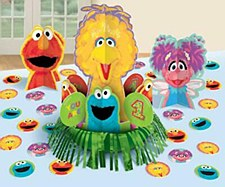 Sesame Street 1st Birthday Value Table Decorating Kit