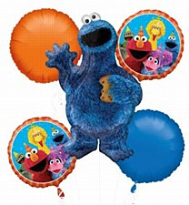 Cookie Monster Balloon Bouquet