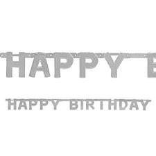 Silver Birthday Banner