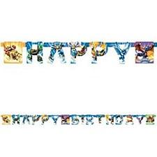 Skylanders Happy Birthday Banner - Printed Paper