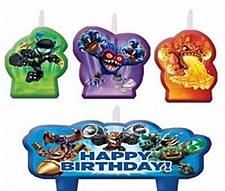 skylanders Birthday Candle Set
