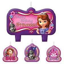 Sofia The First Birthday Candle Set