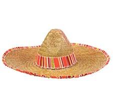 Striped Straw Sombrero