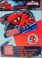 Spider-Man Invitation Card