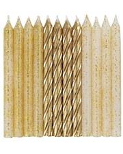 Golden Metallic and Glitter Candles