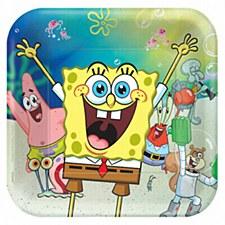 SpongeBob Paper Square Plate