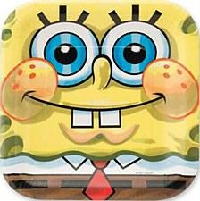 "SpongeBob Classic Dessert Plates 7"""