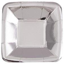 Foil Silver Square Plate Appetizer