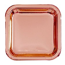 Rose Gold Square 7in Plate