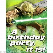 Star Wars 8ct invitations