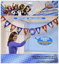 Super Hero Girls Birthday Banner